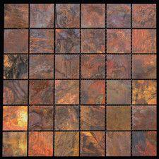 "1.88"" x 1.88"" Copper Metal Tile in Multi"