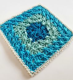 Week 33 Sardinia by Shelley Husband 2016 Crochet Squares Afghan, Granny Square Crochet Pattern, Crochet Blocks, Crochet Granny, Crochet Motif, Crochet Designs, Crochet Doilies, Crochet Stitches, Knit Crochet
