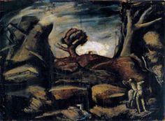 Grande paesaggio con alberi e scena mitologica (s.d.)