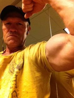 To give Norman Reedus a break, here's some Michael Rooker arm porn