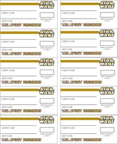 star wars name tags Birthday Name, Star Wars Birthday, Star Wars Party, Star Wars Classroom, Classroom Themes, Party Names, 4th Grade Science, Disney Star Wars, For Stars