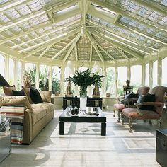 Design your home conservatory and turn it into a cozy glass oasis - AWOMANSTYLE Modern Conservatory, Conservatory Furniture, Garden Furniture, Design Your Home, Home Interior Design, House Design, Garden Design, Interior Ideas, Photomontage