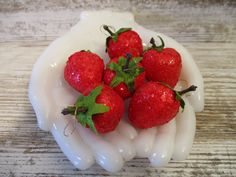 Strawberry Farm, Vintage Bowls, Bowl Fillers, Red Glitter, Country Decor, Stems, Satin Fabric, Decor Crafts, Hangers