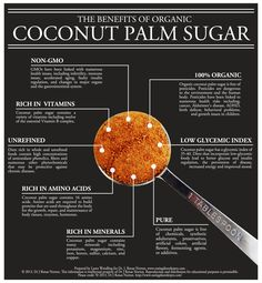 the benefits of coconut palm sugar infographic