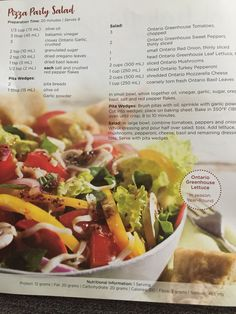 Pizza Party Salad