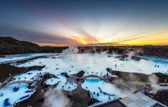 "Why not enjoy one of the remaining weeks of winter in beautiful Reykjavik, Iceland. Dip in the geothermal hot springs of the Blue Lagoon and witness the ""Midnight Sun"" over the Spring horizon. Best Iceland Tours, Iceland Travel, Reykjavik Iceland, Bus Travel, Travel Tours, Marina Bay Sands, Torre Cn, Blue Lagoon Spa, Travel Photos"