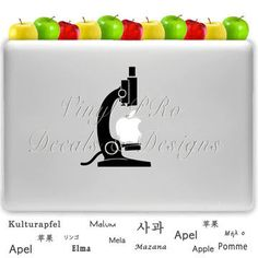 Apple Biology Microscope/ Lab Microscope from StickerSwagger on
