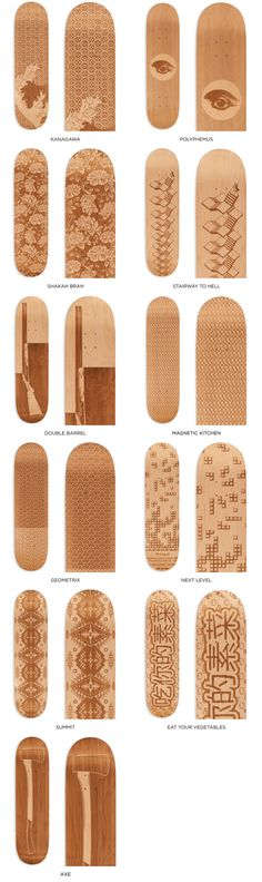 Laser Engraved Skate Decks by Magnetic Kitchen in Brooklyn NYC