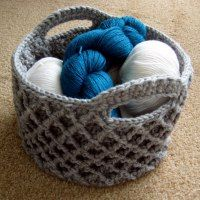 Diamond Trellis Basket | free pattern.