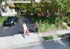 Here's a classic Google Street View Greeting.