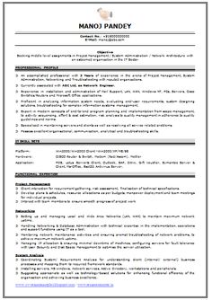 professional curriculum vitae resume template for all job seekers beautiful resume sample of a network - Sample Professional Resume Format