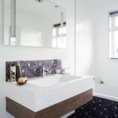 Modern bathroom with mosaic tiles | Bathroom designs | Mosaic tiles | housetohome.co.uk