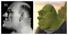 Real-life inspiration for Fictional characters: Wrestling-star Maurice Tillet is rumored to be the inspiration for DreamWorks' Shrek. Angel In French, Wrestling Stars, Real Model, Cool Animations, Shrek, Life Inspiration, Jack Frost, Dreamworks, Creepy