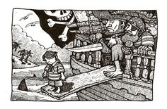 'An early bath for Calico Jack' Jonny Dixon Calico Jack, Pirate Life, Children's Books, Line Drawing, Zentangle, Pirates, Doodles, Sketches, Illustrations