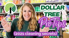 CLEAN YOUR *ENTIRE HOUSE* IN ONE TRIP TO DOLLAR TREE (best products for 2021 w/ @Do It On A Dime!) - YouTube Diy Cleaning Products, Cleaning Hacks, Household Products, Organizing Tips, Household Tips, Dollar Store Hacks, Dollar Stores, Old Fashioned Words, Cleaning My Room