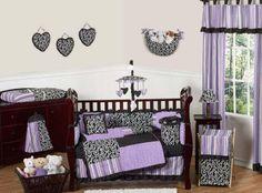 Kaylee 9-Pc Crib Bedding Set by Sweet Jojo Designs $229.99 #babybedding #cribset #bedding