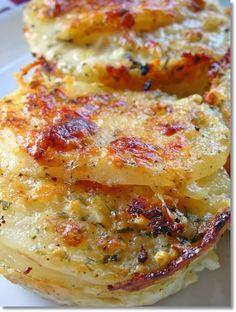 Parmesan Potato au Gratin. ☀CQ #casseroles #quiche
