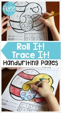 FREE Roll It! Trace It! Easter Handwriting Pages from This Reading Mama