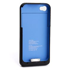 1900mAh Power Charger External Battery Backup Case for iPhone 4, 4S (Black) – USD $ 9.77