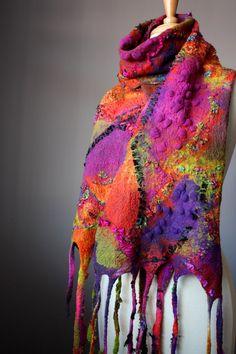 Wool shawl from Etsy shop Vital Temptation