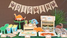 Sweet Table from a Jurassic Dino Hunt Dinosaur Birthday Party via Kara's Party Ideas | KarasPartyIdeas.com