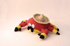 Juan Carlos The Mexican Crab Amigurumi Pattern