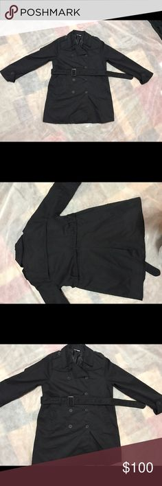 A PEA IN THE POD BLACK MATERNITY TRENCH COAT Sz small a pea in the pod maternity trench coat! Super comfy and stretches around growing belly! Perfect for spring! A Pea in the Pod Jackets & Coats Trench Coats
