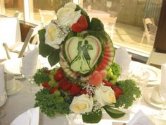 Beauty and the Beast Beauty And The Beast, Dream Wedding, Table Decorations, Creative, Desserts, Foods, Furniture, Home Decor, Fruit Carvings