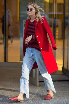 30+ Outfits We Spotted Outside The Victoria's Secret Casting Call #refinery29  http://www.refinery29.com/victorias-secret-angel-model-off-duty-street-style#slide-37  Sasha LussHey, Luss — got a case of the mean reds?...