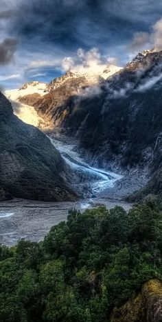 Fox Glacier, South Island, New Zealand! This looks so amazing! I have to visit New Zealand soon! New Zealand Adventure, New Zealand Travel, Fox Glacier New Zealand, Places Around The World, Around The Worlds, Nature Sauvage, Photos Voyages, Adventure Tours, South Island