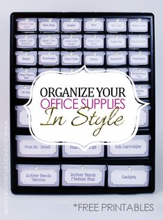 Organize office supp