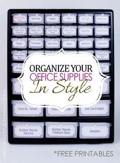 Organize office supp