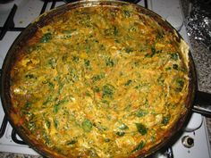 Afghani chicken and spinach