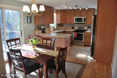 Nice open kitchen dining room plan