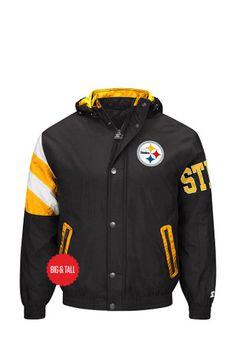 Pitt Steelers Mens Black Knockout Light Weight Jacket