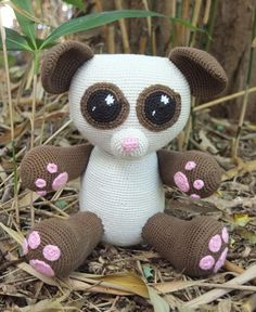 Amigurumi Haakpatroon Mila Panda van MarieLize op Etsy, €5.00