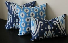 Decorative Throw Pillow CoversSet of ThreeBlue by JuliaSherryHome