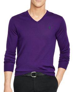 Polo Ralph Lauren Slim-Fit Merino V-Neck Sweater