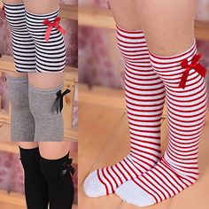 2015 New Arrival  Girls Cotton Long Knee Socks Kids Children Baby Toddler Bowknot Striped Leg Warmers  76UU #>=#>=#>=#>=#> Click on the pin to check out discount price, color, size, shipping, etc. Save and like it!