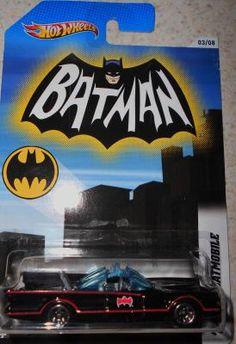 HOT WHEELS BATMAN SERIES # 3/8 '66 TV BATMOBILE  FREE SHIPPING!!!