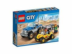 Drive the dune buggy down to the LEGO® City beach for some off-road action! The new dune buggy has arrived and it's time for a test drive! Buggy, Lego City Sets, Lego Sets, Legos, Lego Building Sets, Lego Knights, Lego City Police, Buy Lego, Lego Creator