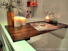 Andrea + Kris + Our Chaos: Bath Tub Shelf