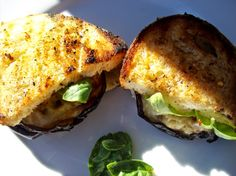 red or green?: Grilled Marinated Eggplant Burgers (Spicy)