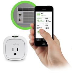 Belkin WeMo - wifi enabled outlet adapters in your home, allowing you to turn on or off anything that is plugged into the adapters.  WeMo line includes light switches, motion detectors...