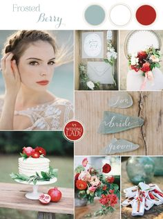 Sea Glass and Berry Summer Wedding Palette