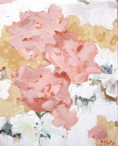 amanda blake - oil on birch panel - floral no. 3