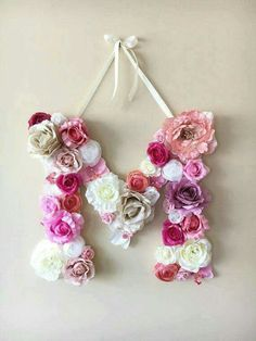 DIY your photo charms, compatible with Pandora bracelets. Make your gifts special. Make your life special! Flower Letters Floral Letters Personalized nursery by PaulettaStore Flower Letters, Diy Letters, Letters Decoration, Photo Letters, Cute Letters, Diy And Crafts, Arts And Crafts, Ideias Diy, Nursery Wall Decor