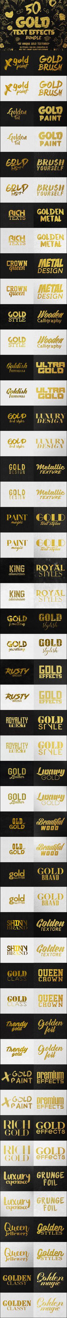 50 Gold Text Effects Bundle  Download 50 unique gold text textures here: https://graphicriver.net/item/50-gold-text-effects-bundle/17432824?ref=KlitVogli