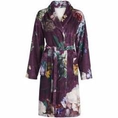 76 XS Joop Bademantel Damen Kimono 1616 Classic Silber