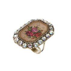 Michal Negrin Brass, White Swarovski Crystals Adjustable Ring, Roses Print Michal Negrin,http://www.amazon.com/dp/B00FMV92R4/ref=cm_sw_r_pi_dp_9L9ftb0EKN46T3VG